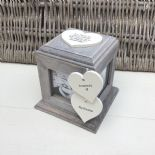 Shabby Chic PERSONALISED Rustic Wood In Memory Of GRANDAD Photo Cube ANY NAMES - 332869715490